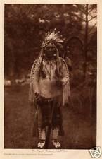 DOOR-OF-LODGE GRIZZY-FLATHEAD, 1910: EDWARD CURTIS -Original TISSUE Photogravure