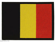 "Belgium (embroidered) Country Flag Patch 12 X 9CM (4 3/4"" X 3-1/2"")"
