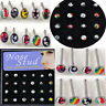 24pc Wholesale Lots Body Jewelry Mixed Style Nose Ring Piercing Nose Studs + Box