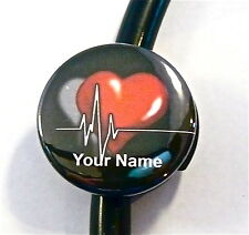 ID STETHOSCOPE NAME TAG MEDICAL HEART/BEAT,MEDICAL,NURSE, RN,ER,ICU,CCU,STUDENT