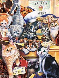 Jigsaw puzzle Animal Cat Kitty's Bakery 750 piece NEW