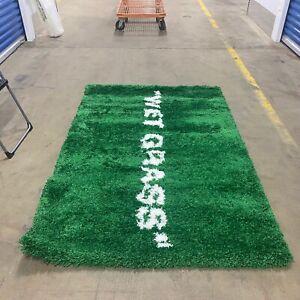 "Virgil Abloh IKEA MARKERAD ""WET GRASS""  Rug 195x132cm Green Off-White NEW"