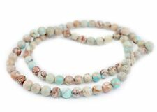 Turquoise Sea Sediment Jasper Beads 10mm Green Round Gemstone 15 Inch Strand