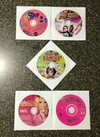 Nintendo Wii 5 Fun Games Bundle - Barbie + Cheer Squad + Candy Factory - TESTED