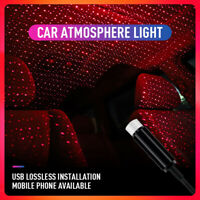 UK USB Car Atmosphere Lamp Interior Ambient Star Light LED Projector Starry Sky@