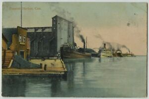 1909 Prescott Harbor Ontario Canada Postcard