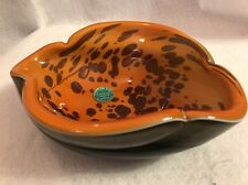 Vintage Mid-Century Murano Art Glass Bowl / Ashtray NEW Old Stock w/ Foil Label