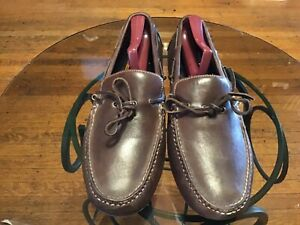 Cole Haan Leather Brown Slip-on Driving Moccasins Loafers  10 1/2M-no reserve