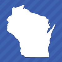 Wisconsin WI State Outline Vinyl Decal Sticker