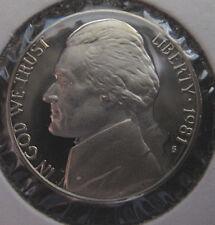 US 1981 S Jefferson Nickel  Proof
