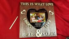 """Custom Couple Personalized Wedding Gift, Wooden Name Frame Gift 7.75"""" x 7.75"""""""