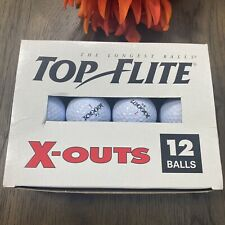 Spalding Top-Flite 12 X-OUTS Golf Balls (12) Brand New Open Box! WHITE