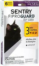 (2 Pack) SENTRY FiproGuard For Cats Over 1.5 lbs | Flea and Tick Topical 6 month