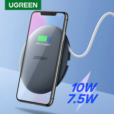 Ugreen Qi Wireless Charger Fast Charge Pad Dock Station 10W Fr iPhone Samsung S9