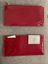 New 2 Lady DIOR Wallets Cannage Red Patent Leather Zip