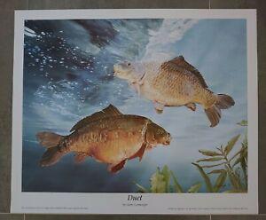 Angling Fishing Fish Fisherman Wall Art Duet Carp Print by Garry Cartwright