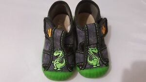 Baby shoes size UK 4 Eur 20 with green Dinosaur