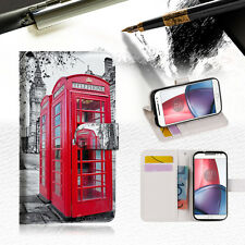 British phone Booth Wallet TPU Case Cover For  Motorola Moto X Force-- A025