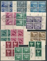 Lot Stamp Germany Blocks WWII Third Reich Postal Worker Horse Race Collection CT