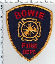 Bowie Fire Dept. (Texas) Shoulder Patch - new 1980's