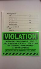 Green VIOLATION Parked Illegally No Parking Tow Towing Car Auto Sign Sticker 5pk