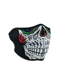 Day of Dead Muerte Sugar Skull Neoprene Half Face Mask Ski Biker Free Shipping
