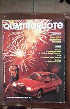 Quattroruote 339 1984 Bentley Mulsanne Turbo. Delta HF. Alfa Romeo Arna SL Q100]