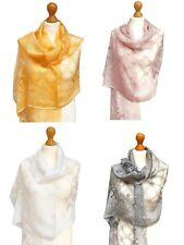 Organza Silky Meshes Wrap Floral Print Scarf Pashmina Premium Shawl Stole Hijab