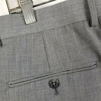 Jos A Bank Signature Collection Pleated Cuffed Gray Suit Dress Pants Sz 35x29.5