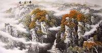 Landscape&house-ORIGINAL ASIAN FINE ART CHINESE FAMOUS WATERCOLOR PAINTING