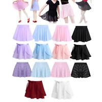 Kids Girls Chiffon Ballet Tutu Dance Skirt Gymnastics Skate Wrap Scarf Dancewear