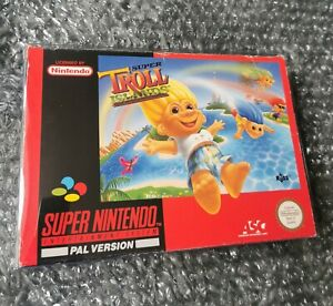 Super Nintendo Super Troll Islands SNES game boxed and complete with manual