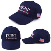 Donald Trump 2020 Keep America Great Embroidered Navy Blue Hat Cap #E