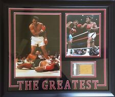 Muhammad Ali Autographed Custom Framed Slabbed Cut PSA/DNA Authenticated
