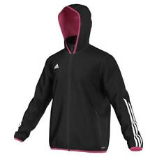 New Mens ADIDAS Football black hooded Jacket ZIP TRACKSUIT Top size L