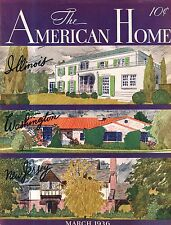 1936 American Home March - Houses in Rockville Centre NY,Mamaroneck, Gladwyne PA