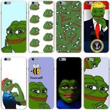 the frog meme Hard Transparent Cover Case for iPhone 7 7 Plus 6 6S Plus 5 5S SE