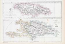 More details for 1863 large antique map jamaica hayti haiti  north america edward weller (da208)