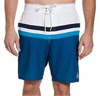 Gerry Men's Swim Short Swimsuit UPF 50+ White Blue XL