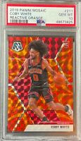 2019 Panini Mosaic Reactive Orange Coby White ROOKIE RC #211 PSA 10 GEM MINT
