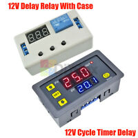 12V Digital Dual LED Delay Relay Automation Cycle Timer Control Switch Module