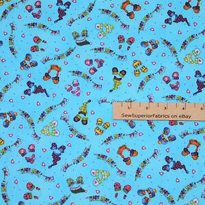Polar Bear Brigade Brr! I Love Cold Sue Zipkin Christmas Fabric 1/2 Yard  #7009