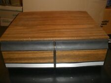 Vintage Faux Wood 2 Drawer Vhs Tape Holder Storage Case 22 tapes