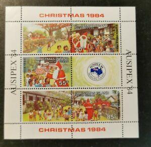 Christmas Island 1984 Christmas m/s MUH AGj40