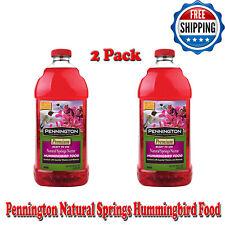 (2 Pack) Pennington Natural Springs Hummingbird Food, Ready-to-Use Nectar, 64 oz