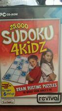 25,000 Sudoku 4 Kidz PC GAME - FREE POST *