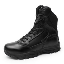 Men Black Tactical Lace Up Combat Military Ankle Boots Army Desert Shoes Comfort