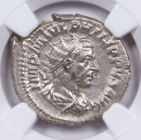 AD 244-249 Roman Empire Silver Double-Denarius of Philip I NGC MS SKU57095