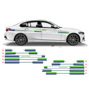 ALPINA printed Racing Side Stripes SET for BMW 3 series and 4 series