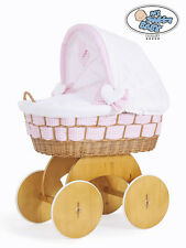 My Sweet Baby - Alessandra Wicker Crib Moses Basket - Pink Check